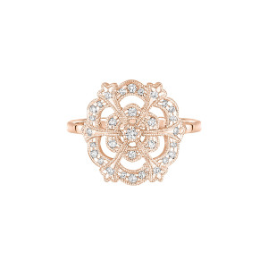 Bague Lace Or Diamants
