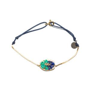 Bracelet Cordon Lakota M Lapis Turquoise