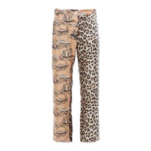 Pantalon Lucky Soie Canali Chair Imprimé