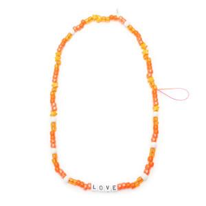 Bijou de Téléphone Love Beads LOVE Orange
