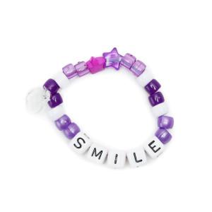 Bracelet Love Beads SMILE Violet