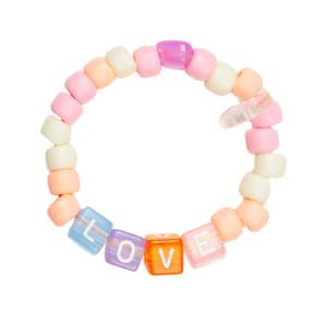 Bracelet Love Beads LOVE Orange Rose