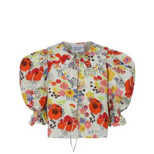 Top Piano Coton Imprimé Floral Multicolore