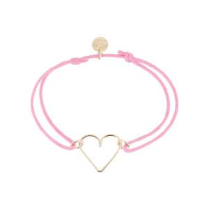 Bracelet Cœur Cordon Rose Gold Filled, AIDES