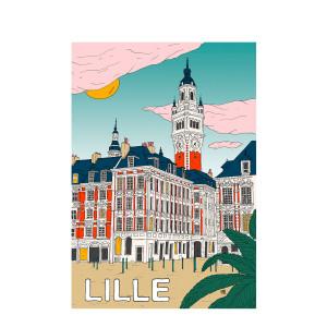 Affiche Lille 30x40cm
