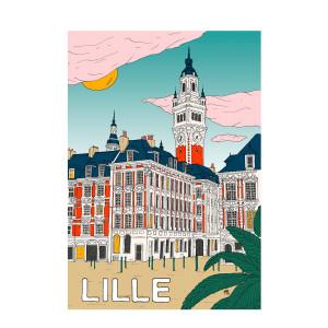 Affiche Lille 50x70cm