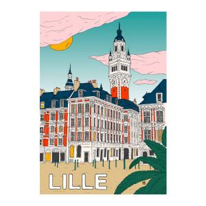 Affiche Lille  56x76cm
