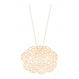 Collier Lotus Jumbo Or Rose