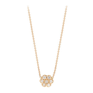 Collier Diamond Lotus Mini Or Rose