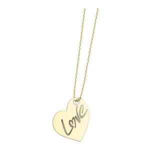 Collier Cœur Love L Diamant Or Jaune