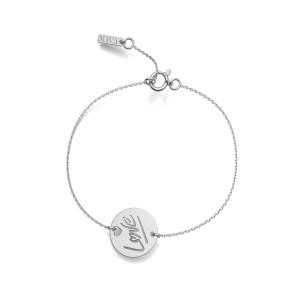 Bracelet Love S Or Blanc