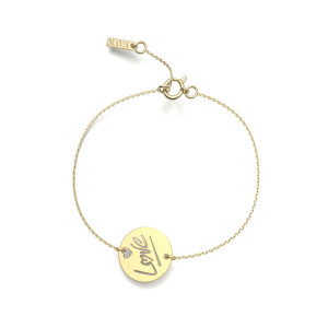 Bracelet Love S Or Jaune