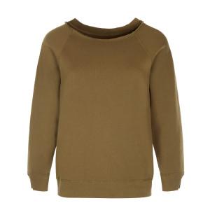 Sweatshirt Luka Coton Vert Army