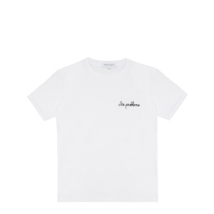 Tee-shirt No Problemo Coton Biologique Blanc