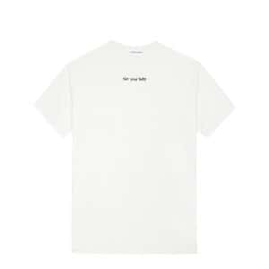 Tee-shirt Not Your Baby Coton Blanc