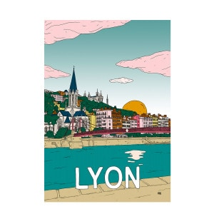 Affiche Lyon 50x70cm
