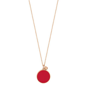 Collier Maria Disc Or Rose Corail