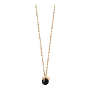 Collier Maria Mini Or Rose Onyx