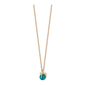 Collier Maria Mini Or Rose Turquoise
