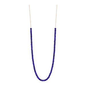 Collier Maria Mini Boulier Or Rose Lapis Lazuli
