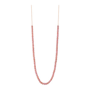 Collier Maria Mini Boulier Rhodocrosite Or Rose