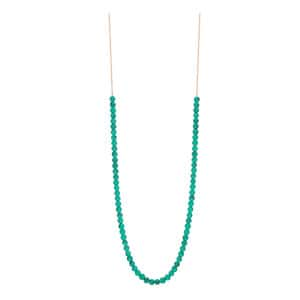 Collier Maria Mini Boulier Or Rose Turquoise