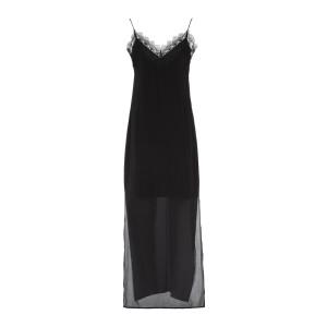 Robe Longue Loretta Soie Noir