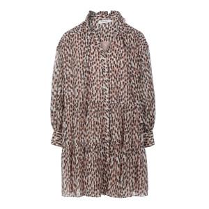 Robe Glory Soie Coton Brush Imprimé
