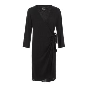 Robe Portefeuille Lin Noir