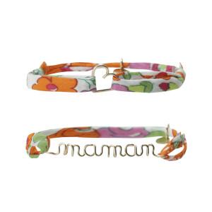 Bracelets Duo Maman Coeur Gold Filled 14K Mandarine