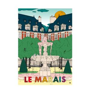 Affiche Le Marais 50x70cm