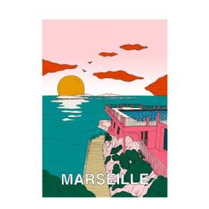 Affiche Marseille 50x70cm
