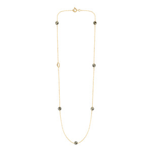 Collier Massilia Pyrite Or Jaune