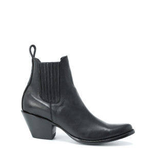 Bottines Estudio Ranchero Cuir Lisse Noir