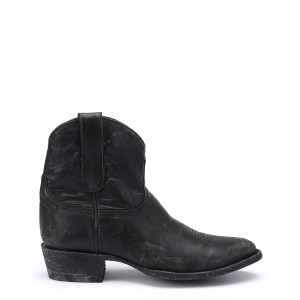 Bottines Kultura Bis Cuir Destroy Noir