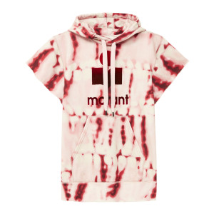 Sweatshirt Milesy Coton Tie And Dye Rouge