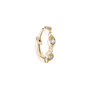Mini Créole Yasmine Or Diamants (vendue à l'unité)