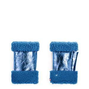 Mitaines Laine Bleu Métallique