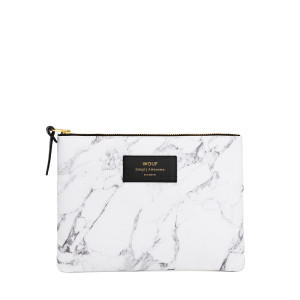 Trousse L White Marble