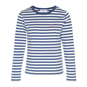 Tee-shirt Dolce Vita Coton Rayure Navy Naturel Rose