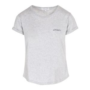 Tee-shirt Amour Coton Gris Chiné Noir