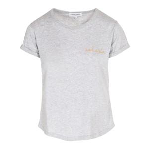 Tee-shirt Soulsister Coton Gris Clair Chiné Doré