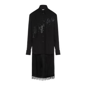 Robe Combinée Paillettes Satin Noir