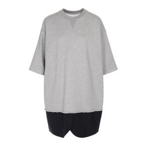Robe Sweatshirt Blazer Coton Gris Bleu