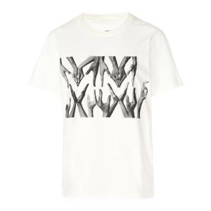 Tee-shirt Imprimé Coton Beige