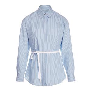 Chemise Popeline Rayures Blanc Bleu