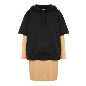 Robe Sweatshirt Coton Noir Nude