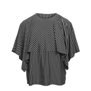 Top Jersey Rayures Noir Blanc