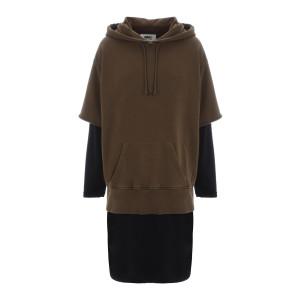 Robe Sweatshirt Noir Kaki