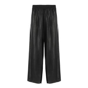 Pantalon Loose Simili Cuir Noir, Collection Studio
